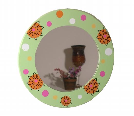 Danya B QBA505F1 Floral Round Mirror