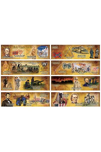 Carson Dellosa CD-410052 The Civil War Time Line Mini Bb Set