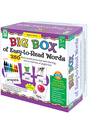 Carson Dellosa KE-840011 Big Box Of Easy To Read Words Game Age 5 plus Special Education