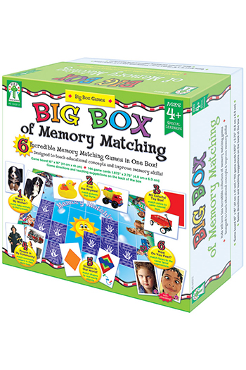 Carson Dellosa KE-840012 Big Box Of Memory Match Games Age 3 plus Special Education