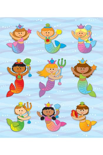 Carson Dellosa CD-168044 Mermaids Prize Pack Stickers