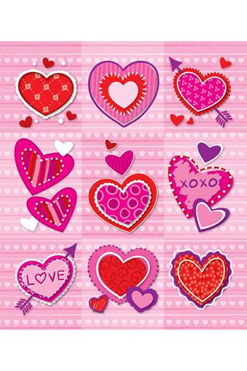 Carson Dellosa CD-168046 Valentines Prize Pack Stickers