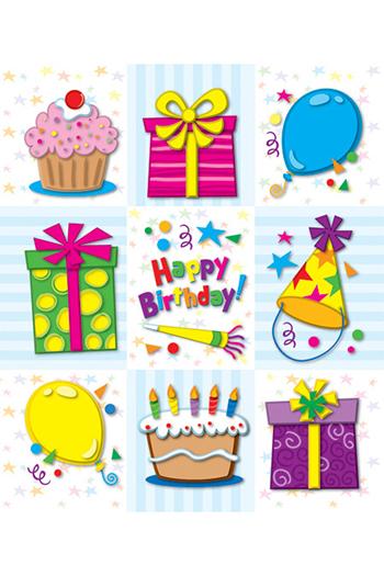 Carson Dellosa CD-168051 Birthday Prize Pack Stickers