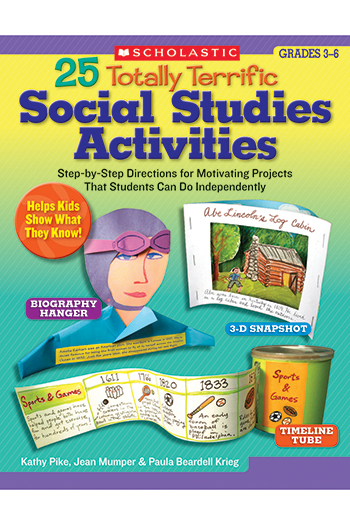 Scholastic Teaching Resources SC-9780439498302 25 Totally Terrific Social Studies Activities Gr 3-6