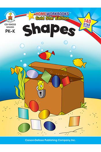 Carson Dellosa CD-104333 Shapes Home Workbook Gr Pk-K