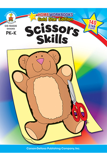 Carson Dellosa CD-104335 Scissors Skills Home Workbook Gr Pk-1