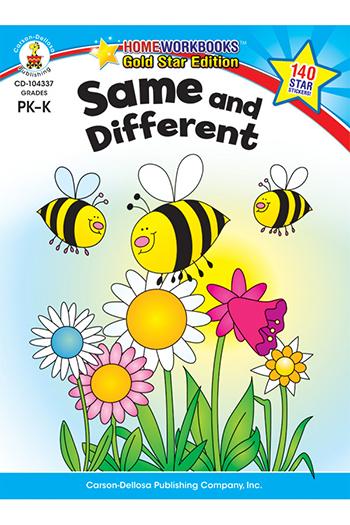 Carson Dellosa CD-104337 Same & Different Home Workbook Gr Pk-K