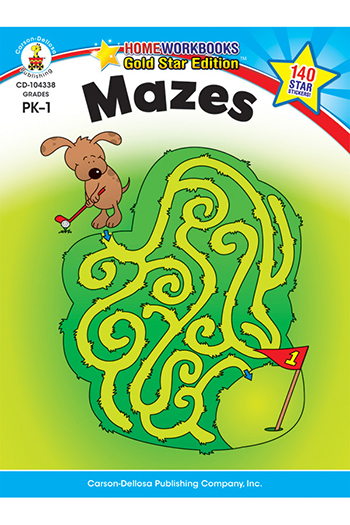 Carson Dellosa CD-104338 Mazes Home Workbook Gr Pk-1