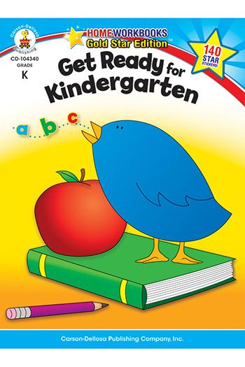 Carson Dellosa CD-104340 Get Ready For Kindergarten Home Workbook Gr K