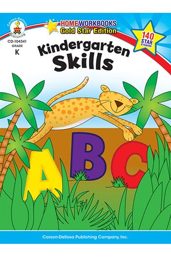 Carson Dellosa CD-104341 Kindergarten Skills Home Workbook Gr K