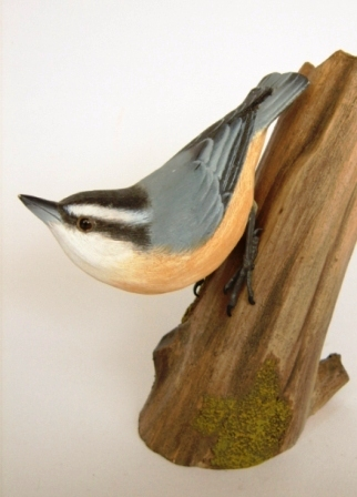 3 Beyond Inc. WNUTH03 White-breasted Nuthatch Wood Bird