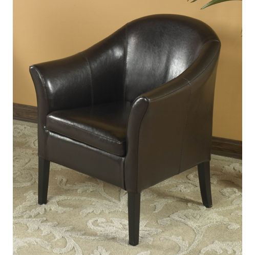 Armen Art Lcmc001Clbc 1404 Brown Leather Club Chair