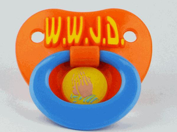 Billy Bob Teeth  Inc. 90009 WWJD Pacifier