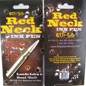 Billy Bob Teeth 10027 Red Neck Ink Pen