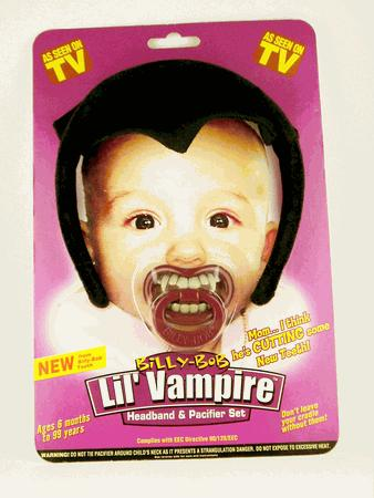 Billy Bob Teeth 50420 Lil Vampire Pacifier and Headband Combo Pacifier