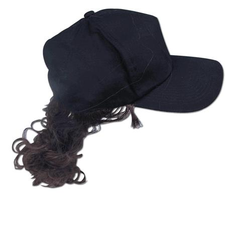 Billy Bob Teeth 10067 Billy Ray Pony Tail Hat with Brown Hair