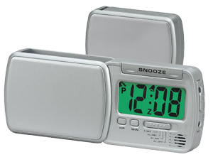 chass 00184 Smart Lite Swing Out Travel Alarm Clock