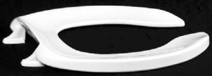 Centoco 500CC-001 White Commerical Plastic Toilet Seat with zinc plated check hinge