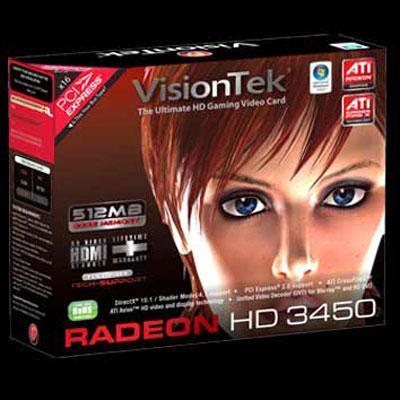 Visiontek 900292 Radeon 3450 PCI 512MB