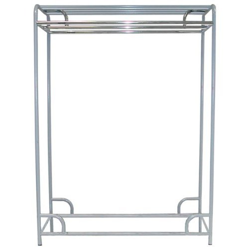 "Ex-Cell Kaiser LLC 790-48D SS 48"" Double Bar Stationary Garment Rack"