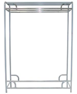 "Ex-Cell Kaiser LLC 790-60D GRY 60"" Double Bar Stationary Garment Rack"