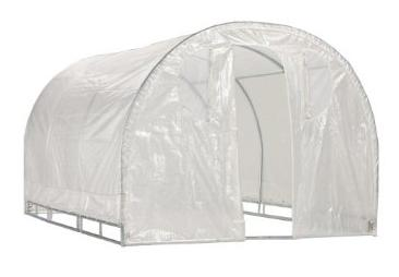 Weatherguard 66Hx8Wx8L round top greenhouse-IS 63001 Greenhouse, Hoop House, Grow House, High Tunnel, Hothouse, Plant House, Grow Tunnel, Garden Supplies