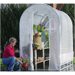 Weatherguard Deck & Patio Greenhouse 66H x 4W x 8L-IS 91598 Greenhouse, Hoop House, Grow House, High Tunnel, Hothouse, Plant House, Grow Tunnel, Garden Supplies