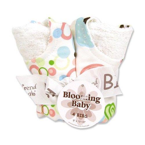 Trend Lab 101965 Blooming Bouquet Bib- 4-Pack Set