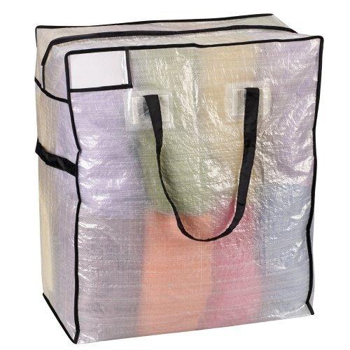 Home Essentials 2620 Storage and Organization Tote Bag with Black Trim - Medium