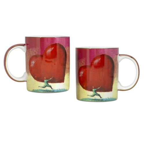 Arjang & Co PS-7302 All Heart Coffee Mugs- Set of 2