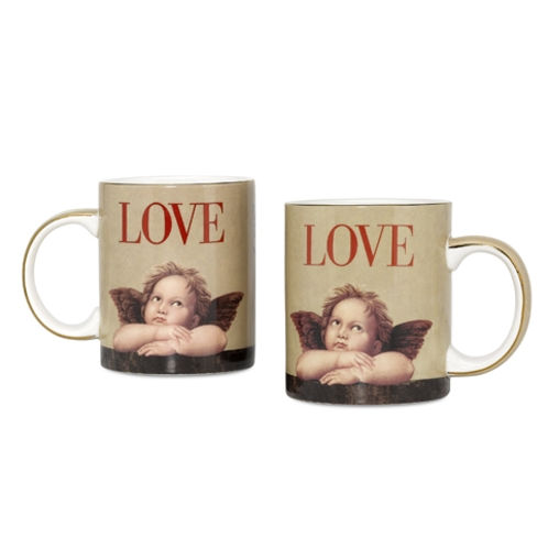 Arjang & Co PS-7306 Love Cupid Coffee Mugs- Set of 2