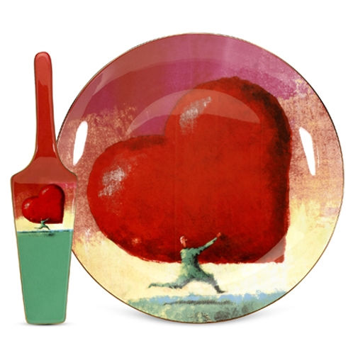 Arjang & Co PS-7402 All Heart Cake Plate with Server