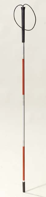 Drive Medical 10352-1 Deluxe Folding Blind Cane- Reflective Red