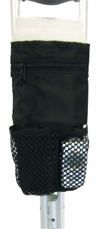 Drive Medical 10268-1 Deluxe Universal Cane / Crutch Nylon Pouch- Black