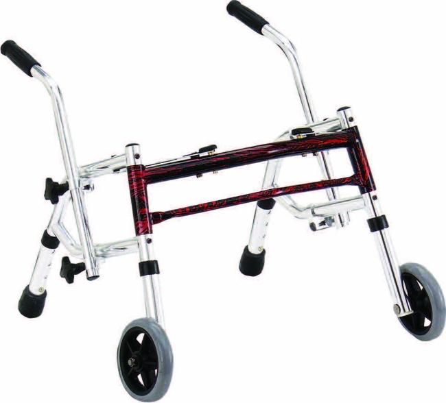 Drive Medical 10221FRD-1 Wenzelite Rehab Glider Walker- Flame Red