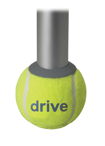 Drive Medical 10121 Deluxe Walker Rear Tennis Ball Glides- Yellow