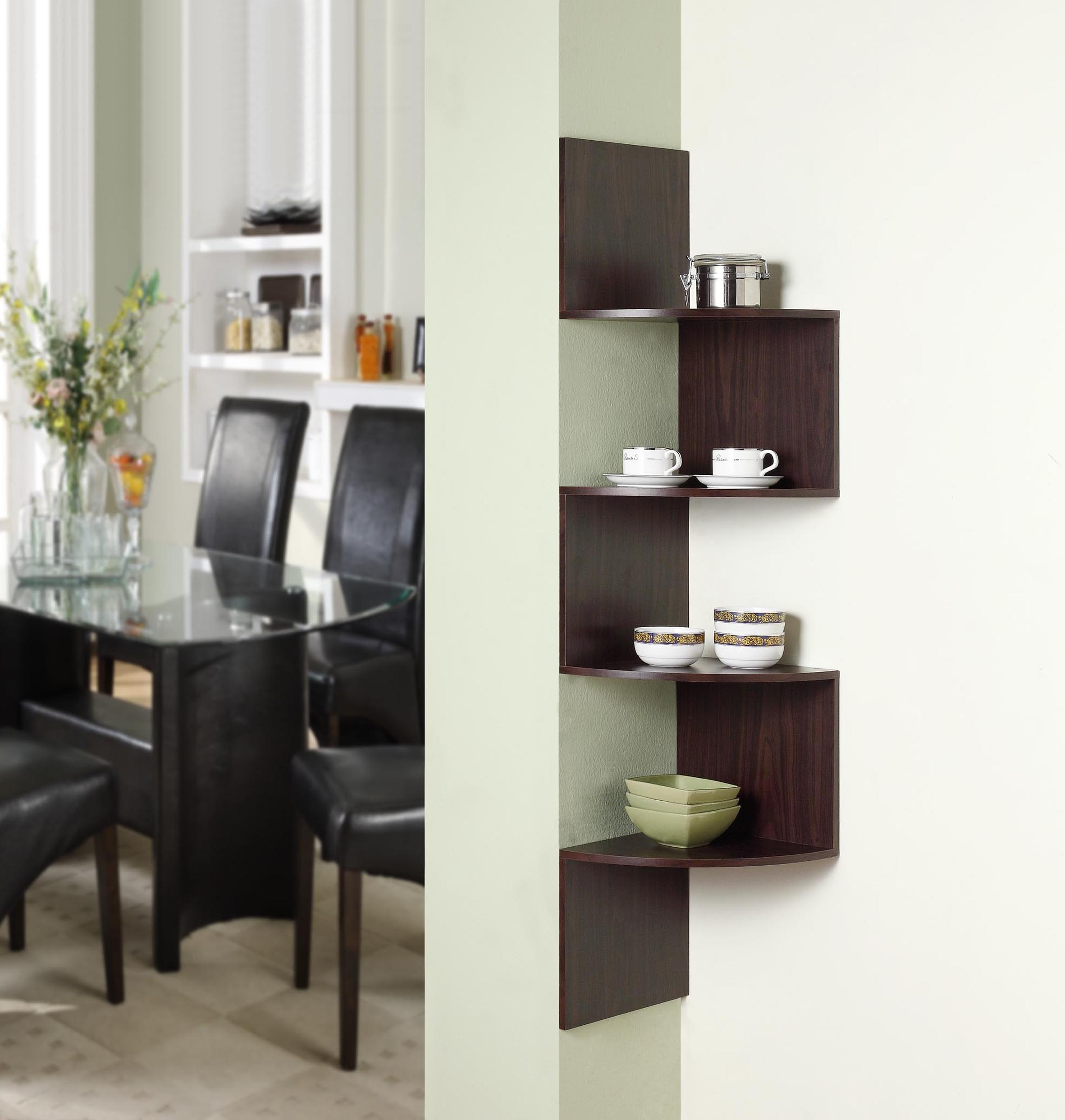 4D Concepts 99300 Hanging Corner Storage- Espresso