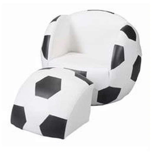 Giftmark 6720 Childs Upholstered Soccer Sports Chair Chair With Ottoman