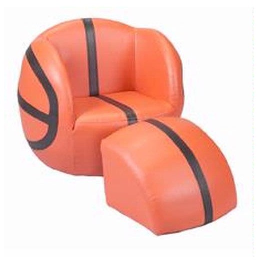 Giftmark 6730 Child's Upholstered Basketball Sports Chair Chair with Ottoman
