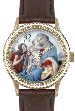 Arjang & Co HY-1022G-DB Botticelli Madonna Yellow Gold-Colored Round