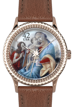 Arjang & Co HY-1022R-LB Botticelli Madonna Rose Gold-Colored Round