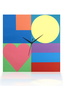 Arjang & Co PS-9006-SQ Mod Love Square Canvas Wall Clock