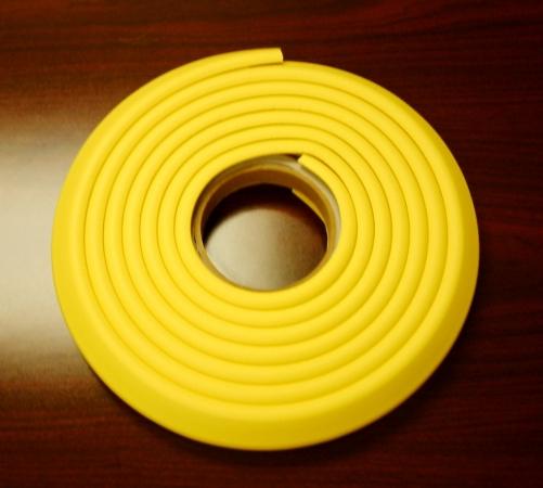 Cardinal Gates EC12-Y 12 inch Kids  Edge Cushion Roll in Poly Bag- Yellow