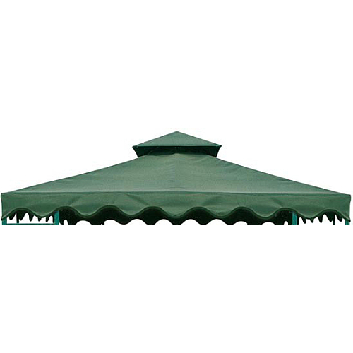 DC America GOT660-GG 10 x10  Gazebo Top- Two Tier- Green with Green Trim at Sears.com