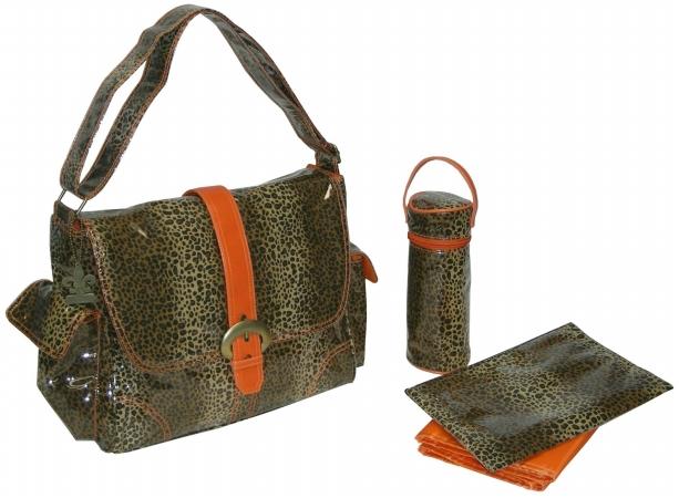 Kalencom 88161226231 Orange Leopard Laminated Buckle Bag at Sears.com