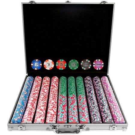 1000 Chip NexGenT PRO Classic Style Poker Set -Aluminum Case POKER11255