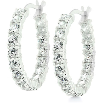 Sterling Silver Eternity Hoops - E01164RS-C01