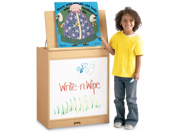 Jonti-Craft 0543JC011 Maplewave Big Book Easel- Write-N-Wipe