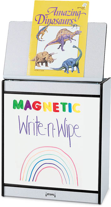 Jonti-Craft 0543JCMG114 Rainbow Accents Big Book Easel- Magnetic Write-N-Wipe- Orange