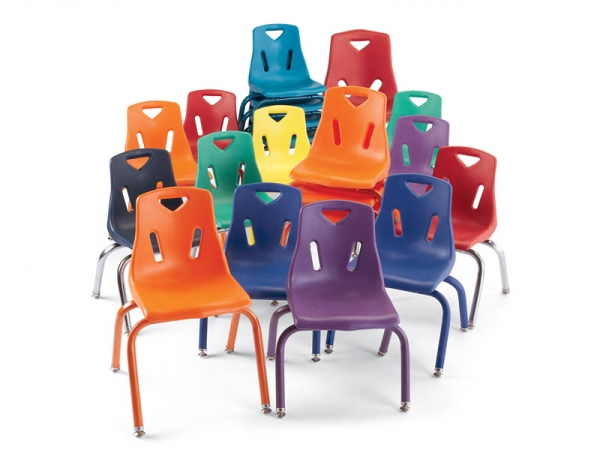 Jonti-Craft 8122JC6005 Berries Plastic Chairs With Powder Coated Legs- 12 inch Ht- Set Of 6- Teal